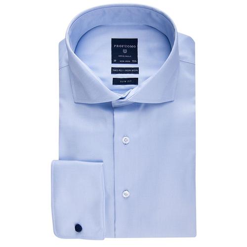 Slim BlauwN Profuomo Overhemd Fit rxWQoedCBE