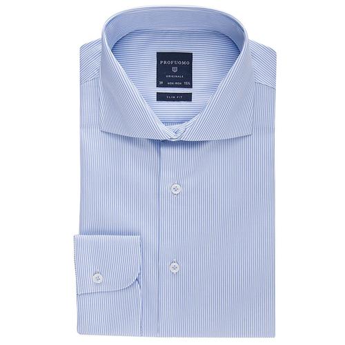 Profuomo Overhemd.Profuomo Overhemd Slim Fit Blauw Gestreept