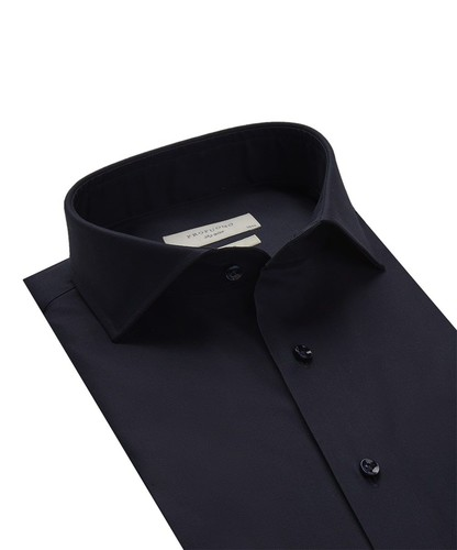 Profuomo Overhemd - Donkerblauw - Slim Fit - Royal Twill (2)