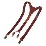 Wiseguy Suspenders - Crazy Horse - Oxblood - Thumbnail 2