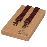 Wiseguy Suspenders - Crazy Horse - Oxblood - Thumbnail 1